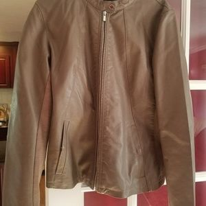Express leather fall jacket